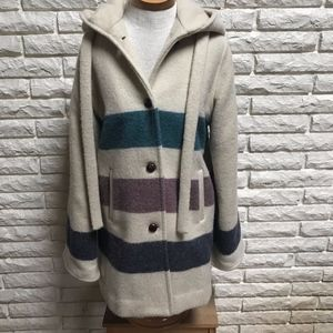 True vintage Winona Knits wool stripe hooded coat